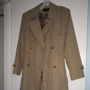 Women's beige trench jacket